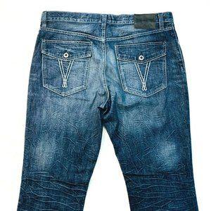 ECKO UNLTD. Relaxed Straight Crinkled Jeans EUC